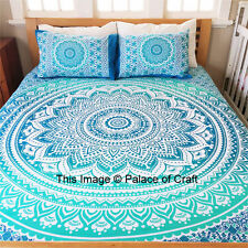 Mandala Floor Cushion Bohemian Floor Cushion Cover Indian Ombre Pillow Sham Case