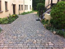 Altstadtpflaster gebraucht, anthrazit-bunt, historisches Natursteinpflaster