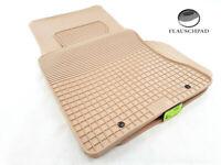 Original Lengenfelder Gummimatten Fußmatten passend für BMW E60 E61 5er M5 BEIGE