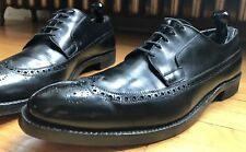 John McHale Custom Grade Calf Black Wingtips Dress Shoes 14 Church's Cheaney EUC