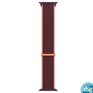 Genuine Apple Watch 40mm / 38mm Sport Loop Band Strap - Plum - Original