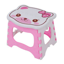 Cute Cartoon Cat Easy Foldable Children Step Very Firm Stool-Pink Z8B8