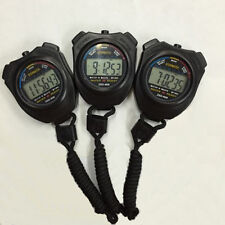 Digital Handheld Sports Stopwatch Stop Watch Time Clock Alarm Counter Timer