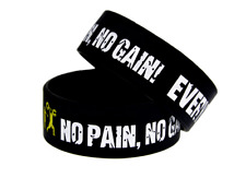 Damen und Herren Armband No Pain, No Gain Gym Motivation