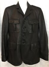 Tom Ford Leather Jacket Black For Pocket For Button Size 48 US size 38