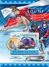 Solomon Islands 2016 MNH Sochi Winter Games Medal Winners 1v S/S Olympics Stamps