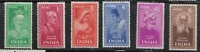 1952 INDIA  Saints &Poets set of 6  very light hinge traces Fine  Mint  Cat £42