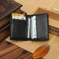 Männer Echtes Leder Geldbörse Bifold ID Kreditkarteninhaber Geldscheinklammer