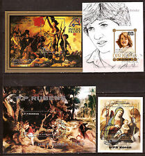 COREE BLOCS L'art: Portrait,tableaux de Rubens,Delacroix,Corregio, divers BX5