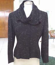 Lilli Ann  40s Vintage Blazer Jacket with build in scarf in Black SZ M