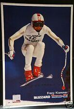 FRANZ KLAMMER Signed Rare Large Framed Print 23x33 PSA/DNA COA Auto Olympic Gold