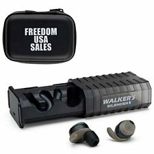 Walker's Silencer Bluetooth Rechargeable Ear Buds Pair with Water Resistant Case