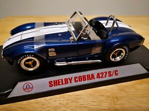 1:18 Original Shelby Collectibles Cobra 427 S/C Blue with White Stripes