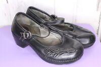 Dansko 38 8 Black Leather Mary Janes Women's Shoes
