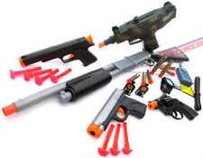 5x Toy Guns Pump-Action Shotgun Sm UZI Pistol 2x 9MM Dart Guns Revolver Cap Gun