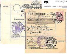 Y92 1932 Latvia Parcel Card ex LIELVARDE {samwells-covers} PTS