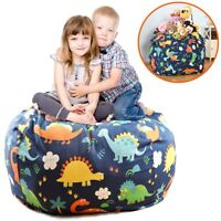 EXTRA LARGE Stuffed Animals Bean Bag Chair Cover-100% Cotton Canvas Kids Toy