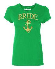 Bride Anchor (Gold) wedding gift bridal party Women's T-shirt