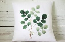 """Eucalyptus  - 16"""" cushion cover botanical shabby vintage chic"""