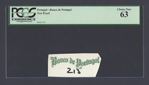Portugal - Banco de Portugal Test Proof Vignette Uncirculated