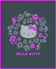 Tappeti di panno coperta PLAID Coperta per bambini Hello Kitty grigio 110 x 140 NUOVO