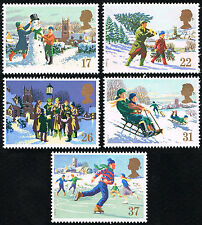 GB Sc# 1340-1344 = 1990 Christmas & Winter Scenes Set of 5 = MINT VF NH