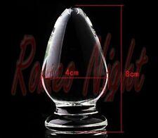 Crystal Penis Glass Dildos,Anal High Quality - 8cm x 4cm - Réf 6 - Free Shipping
