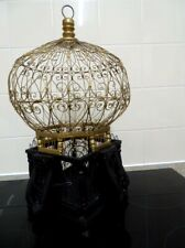 Wood and wire antique  balloon bird cage