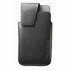 Black Vertical Leather Swivel Holster Case Pouch Belt Clip For Blackberry Z10