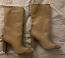 Zara Suede Beige Boots 37 UK4