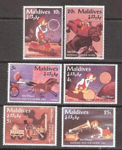Maldives 1995 Disney Donald Duck and the Wheel MNH (SC# 2051-2056)