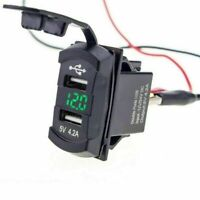 Dual USB Ladebuchse Boot Auto LED mit Voltmeter Wippschalter Panel