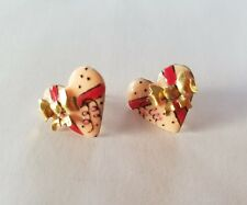 Lunch At The Ritz Earrings Designer heart shaped