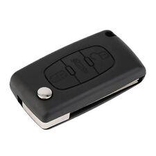 Flip Remote Key Case FOB For Citroen C3 C4 C5 C6 3 Button Light Symbol QT