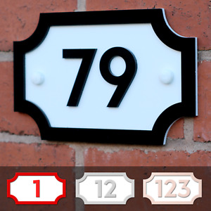 Personalised Door Number 3D Acrylic Vintage Road Sign Style House Plaque Garden