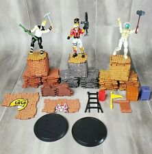 Fortnite Building Materials Lot - 99 Pieces Metal Brick Wood - Jazwares Figures