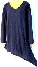 plus sz L / 22 TS TAKING SHAPE Purple Knight Loco Tunic textured top NWT! $130