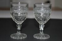 Indiana Glass Co. Bird and Strawberry Cordials - Pair - Clear Wine EAPG 1914