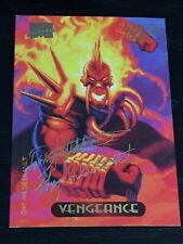 🔥  VENGEANCE  🔥 1994 Marvel Masterpieces GOLD FOIL SIGNATURE SERIES card #130