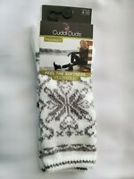 Cuddl Duds Women's Fairisle Boot Sock White/Gray
