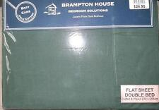 Brand New BRAMPTON HOUSE Forest Green Double Bed Flat Sheet 180 TC