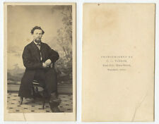 CDV PHOTO MAN W/ GOATEE FROM WARREN, OH, BY TAYLOR