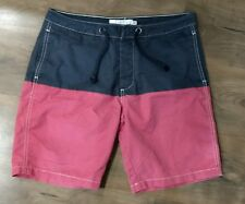 5abb06f7b3c H&M Board Shorts Swim Trunks Size 32 Navy/Red No Liner