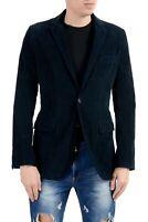 Dolce & Gabbana Men's Corduroy Blue Two Button Blazer Sport Coat US 36 IT 46