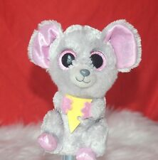 TY BEANIES Boos Squeaker mouse holding cheeze Stuffed Animal doll Kids Toy 7""