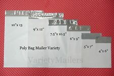 30 SMALL POLY BAG POSTAL MAILING ENVELOPE COMBO ~ 6 SIZE VARIETY ~  SELF-SEALING