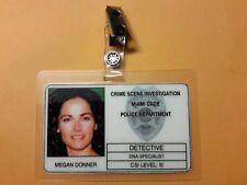 CSI Miami TV Show ID Badge - Megan Donner prop cosplay costume