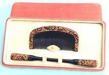 More details for h3445 vintage japanese traditional matching set hair ornaments boxed