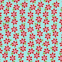 RJR Patchwork Fabrics Bugsy by Kids Quilts 2629 002 Blue Flowers ~ per long 1/4