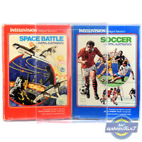 10 Box Protectors for Intellivision Games STRONG 0.4mm PET Plastic Display Case